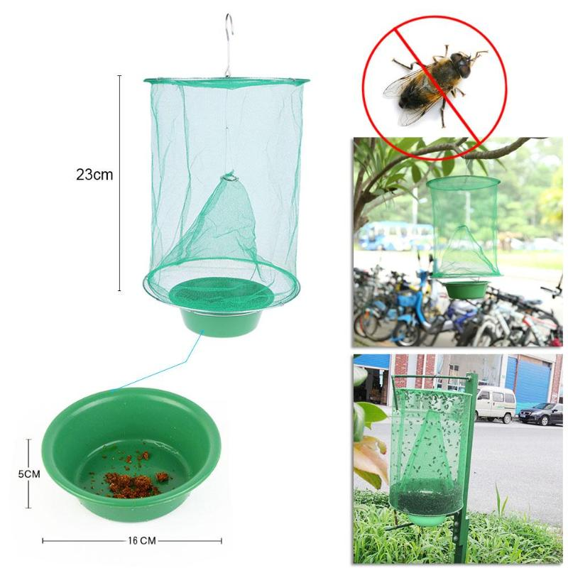 Folding Mosquito Capture Catching Fly Mesh Net Cage Hanging Trap Catcher Killer Insect Bug Fly Catcher Mosquito Traps Repellent