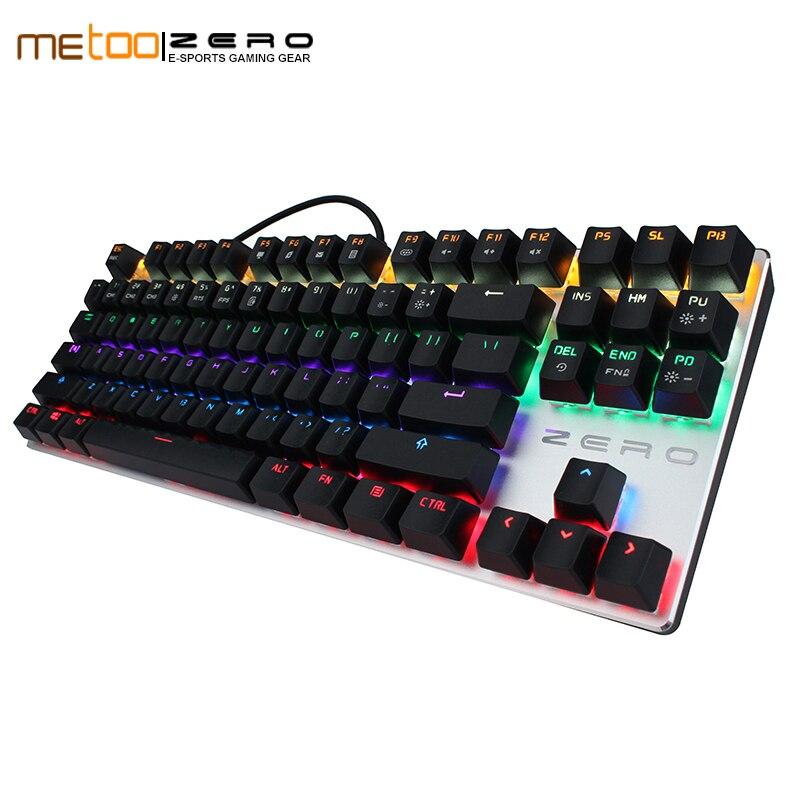 Gaming Keyboard Zero Gaming Keyboard Russian//English//Arabic Mechanical Keyboard 104 Keys USB Wired Keyboard Blue//red Switch Keyboard Axis Body : Russian, Color : 87Black Red Swich