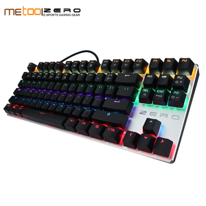 Original Metoo Zero gaming keyboard Russian/English/Arabic Mechanical Keyboard 104 keys usb Wired keyboard blue/red switch(China)