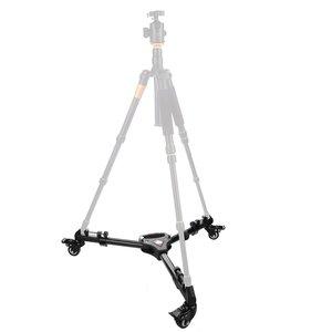 Image 3 - FFYY KINGJOY pangshi VX 600 צילום Heavy Duty חצובה דולי עם גלגלים מתכוונן רגל Mounts עבור Canon Nikon Sony DSL