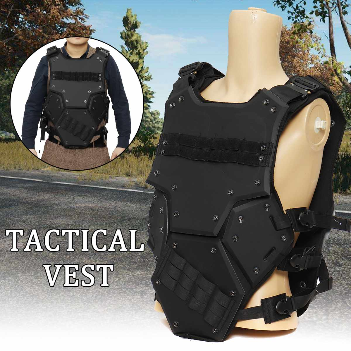 EVA Tactical Vest Molle Plate Combat Gilet Military Field Battle Waistcoat Protective Security Outdoor Clothing Hunting Vest