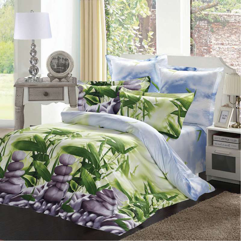 Bedding Set SAILID B-148 cover set linings duvet cover bed sheet pillowcases TmallTS colorful 3d butterfly print with white color duvet cover 4 piece bedding sets