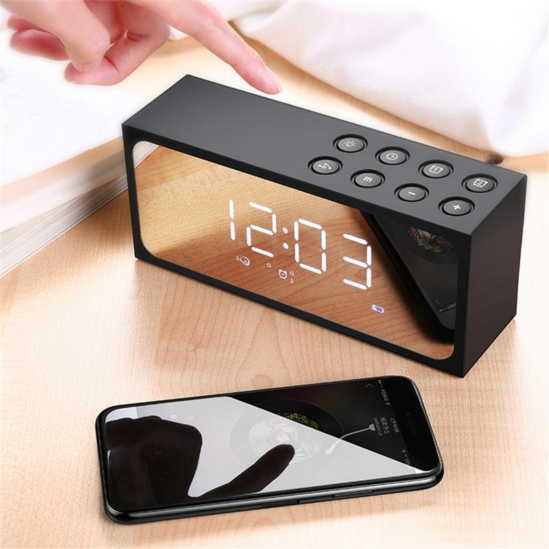 Image 5 - Portable Speaker Wireless Bluetooth Player 3D Stereo HD Sound Surround Home Outing Mini Devices Alarm With Mic Hands free Calls-in Portable Speakers from Consumer Electronics