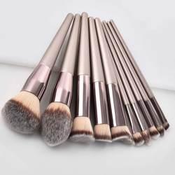 Роскошные шампанское набор кистей для макияжа для Фонд Румяна Тени для век корректор для губ глаз Make Up Brush Косметика Красота инструменты