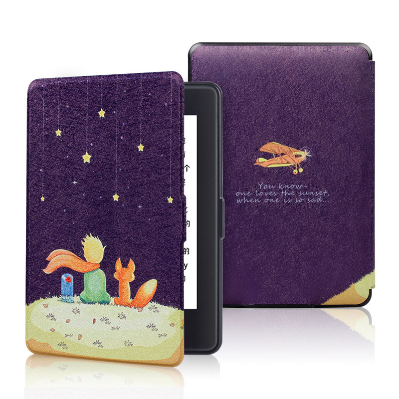 For Amazon 2016 New Kindle 8th Generation Ultra Slim Thin Magnetic Case Shell Leather Cover For Kindle 8 Case With Sleep&Wake Up(China)