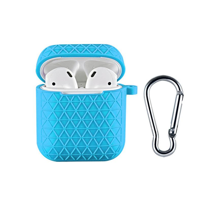 Silicone Clamshell Wireless Bluetooth Headset Case With Hook Dust proof Protective Cover Case With Charging Hole For Air in Earphone Accessories from Consumer Electronics