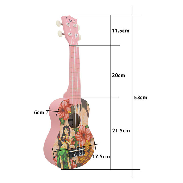 Girl Patterned Soprano Ukulele