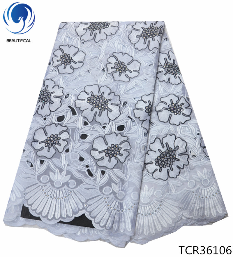 BEAUTIFICAL cotton voile fabrics for dress quality swiss cotton voile fabric 2019 design TCR361 in Lace from Home Garden