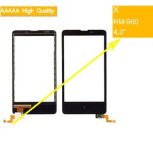 10Pcs/lot For Nokia X Dual SIM A110 RM-980 Touch Screen Panel Sensor Digitizer Front Glass Outer Lens Touchscreen NO LCD