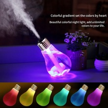 400ml Ultrasonic Humidifier Home Office Mini Aromatherapy Colorful USB Led Night Light Bulb Aromatherapy Atomizer Bottle цена