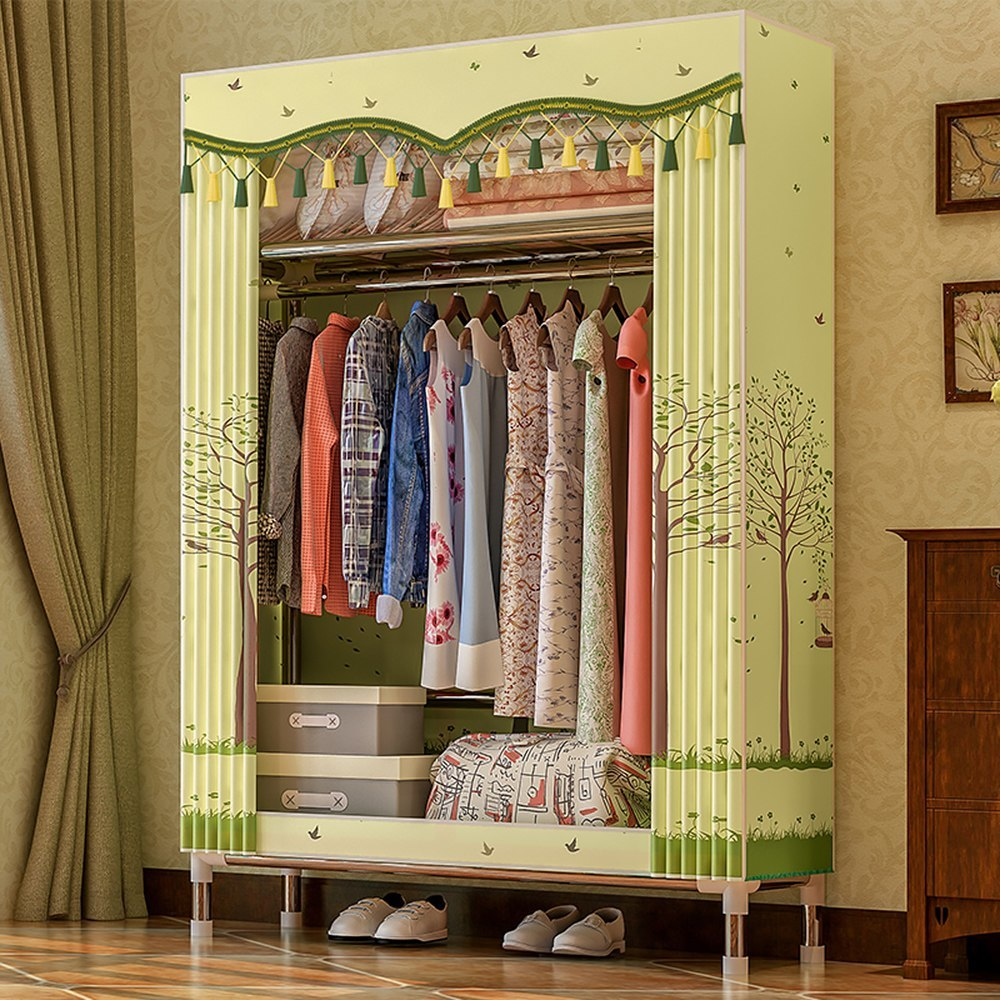 Fabric Wardrobe Closet Clothes Storage Organizer Clothing Rack Fleece Garment Aliexpress Imall