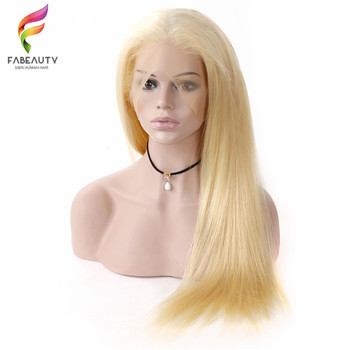 #613 Blonde Wigs 150% Density Brazilian Straight Remy Human Hair Lace Front Wig Pre Plucked With Baby Hair Blonde Lace Wigs 1