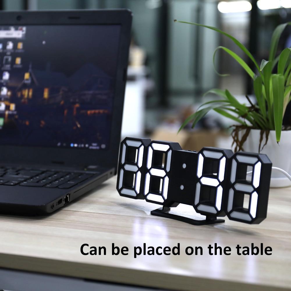 3D LED Digital Clock Modules with Night Mode Adjust the Brightness Electronic Ta