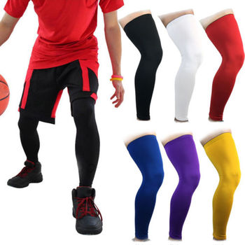 Cool Men Running Fitness Sports Leg Knee Sleeve Solid Fashion Leg Protector Sleeve Compression Sleeve Support Men Knee Sleeve