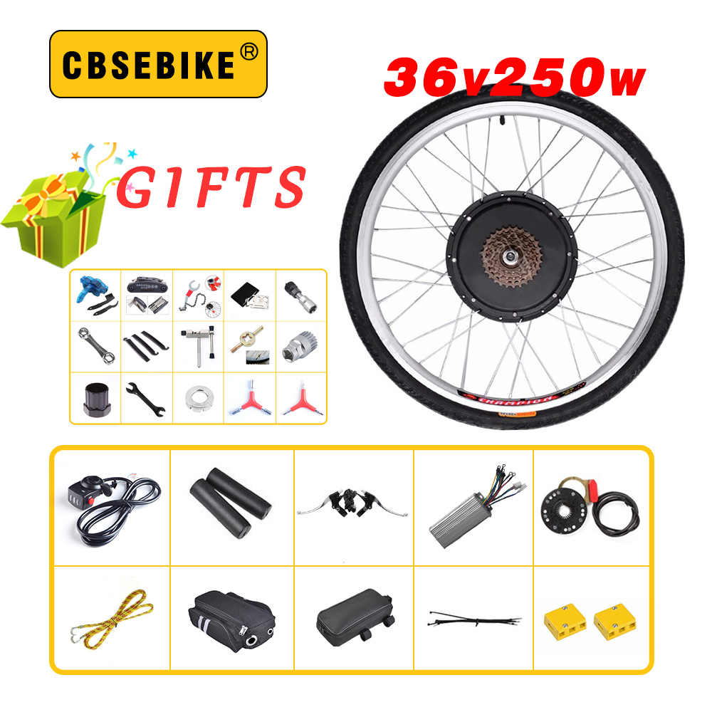 "CBSEBIKE high speed Conversion Kit 36V 250W 20"" 24"" 26"" 28"" 29 inch 700c EBike Electric Bicycle rear Motor Wheel"
