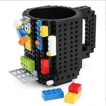 350 мл креативная кружка с молоком, кофейная чашка, креативная кирпичная кружка, чашки, держатель для питьевой воды для LEGO, строительные блоки, дизайн