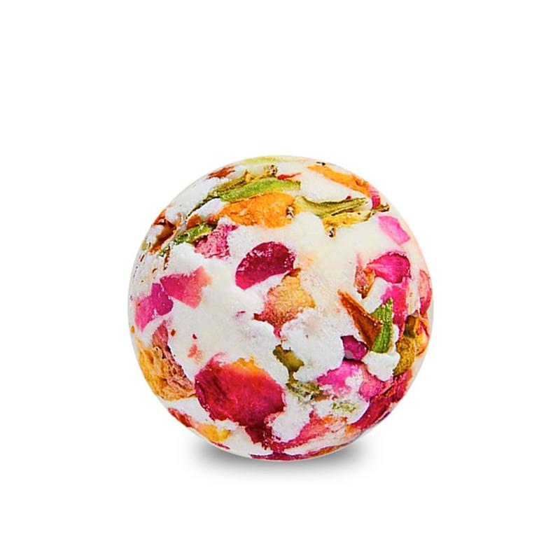 1 pc Bath Ball Natural Bubble French Rose Fragrance Essential Oil Deep Sea Bath Salt Bath Bombs for Household Women Skin Care