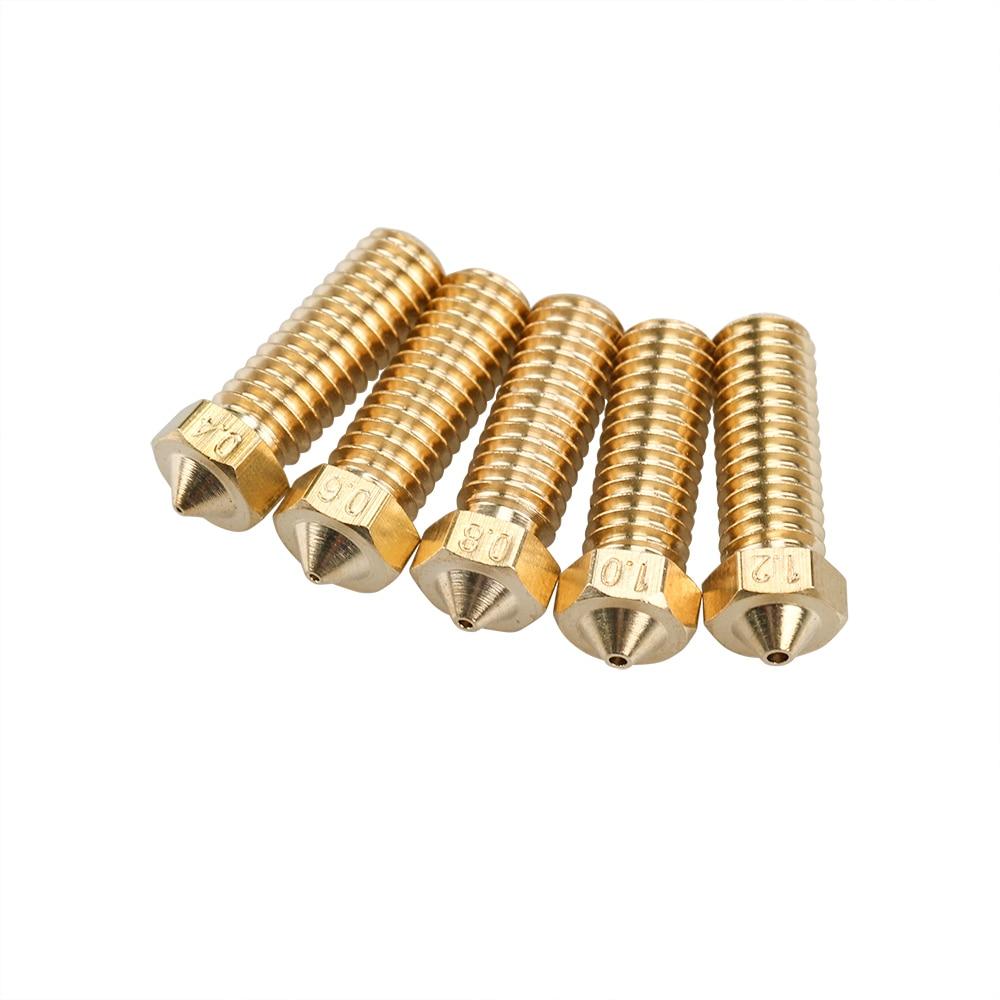 4PCs Iron Peak 3D MK7 MK8 Brass Nozzle 0.4mm for 1.75mm Filament 3D Printer Extruder Hotend