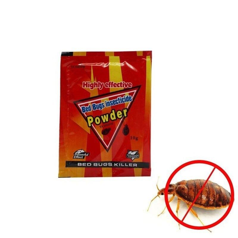 10pcs Bed Bugs Insecticide Killing Bed Bugs Fleas Lice Bait Drugs High Effective Bed Bug Killer Powder Pest Control Bedbug Drug