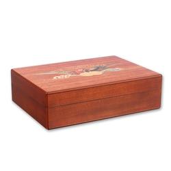 UXFO humidificateur à cigares de voyage en bois de cèdre avec humidificateur à hygromètre pour cigares Cohiba 20CT