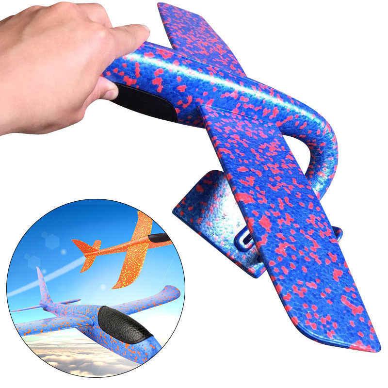 Dzieci dzieci piana szybowiec samolot moda EPP pianki ręcznie rzut samolot na zewnątrz uruchomienie szybowiec samolot zabawki dla dzieci popularne prezenty zabawki