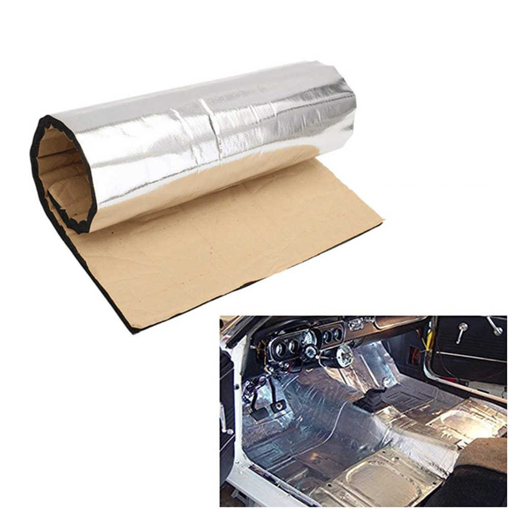 Mobil Isolasi Kebisingan Kendaraan Aluminium Foil Isolasi Sel Tertutup Busa Lembar 10 MM Mobil Van Kedap Suara Mematikan Isolasi