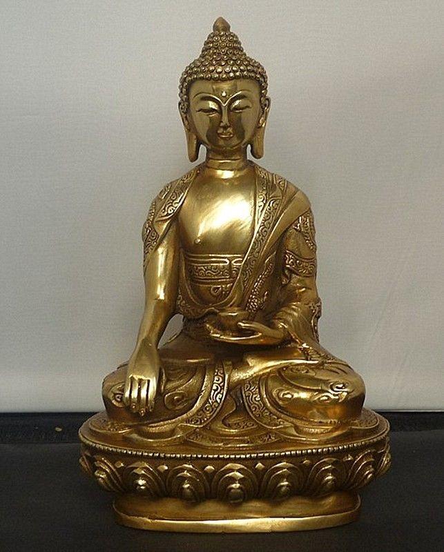 التبت التبت Buddhis شاكياموني البرونزية بوذا تمثال-في التماثيل والمنحوتات من المنزل والحديقة على  مجموعة 1
