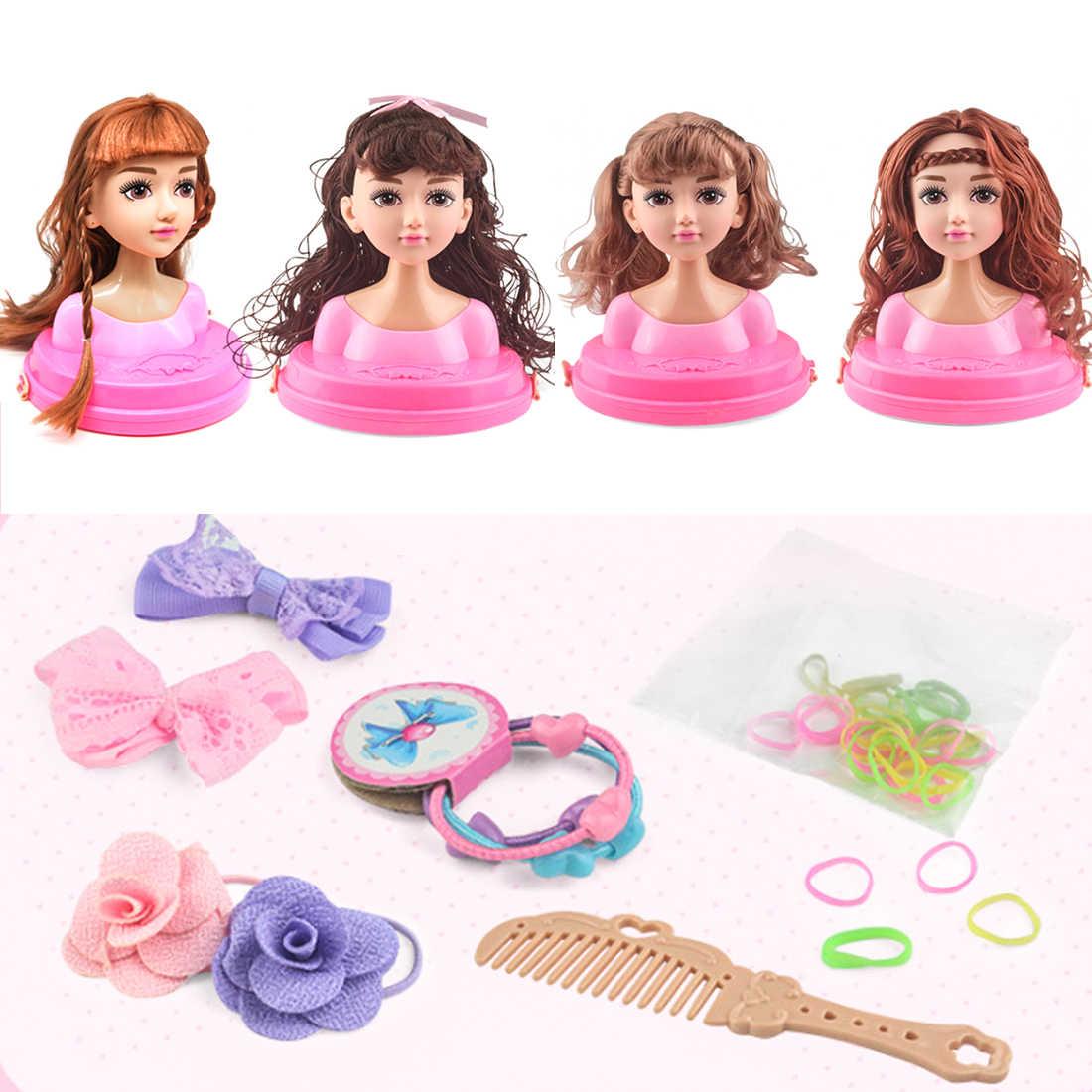 Новая модель головы половина тела кукла игрушка макияж прическа играть игрушки Красота ролевые игры для детей подарок на день рождения-случайный цвет версия A