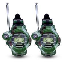 Портативная рация игрушка-Детские семь-в-одном камуфляж военные часы рация