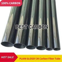 2 шт. 20 мм x 16 мм x 1000 мм Высокое качество 3K ткань из углеродного волокна Рана/winded трубки