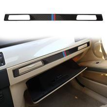 Углеродного волокна пилот держатель стакана воды Панель декор отделка для BMW 3 серии E90 E92 RHD аксессуары автомобиль внутренние формовки