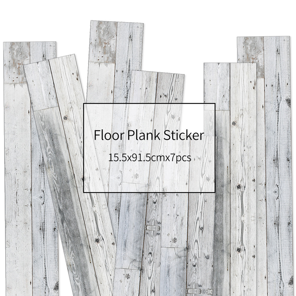 HXM 7pcs Floor stickers DIY Self adhesive Wall Tile Stickers Wood Grain Frosted Film Wallpaper Kitchen Living Room Decor #15