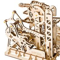 3D Puzzle Toy Tower Coaster Wooden Model Mechanical Gear Toy DIY Children's Educational Stereo Assembly Toy Friend Birthday Gift