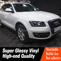 super High Gloss White Glossy Vinyl Wrap For Car Wrap Expected durability: 4 5 years Don't regret buying