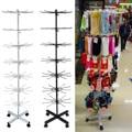 7 Tiers 70 Haken Roterende Rack Sokken Hoed Cap Display Stand Hanger Pruik Sjaals Armband Hanger Opslag Houder Plank Rack planken