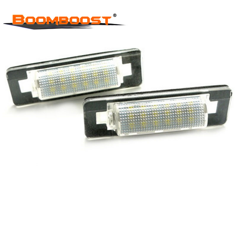 2pcs For Benz W210 <font><b>W202</b></font> E300 E55 C230 C43 AMG 18 <font><b>LED</b></font> Car <font><b>LED</b></font> Number License Plate Lamps OBC 3528 SMD image