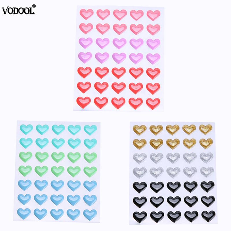 Colorful Heart Stickers DIY Self-adhesive Enamel Resin Dot Stickers Heart For Scrapbooking DIY Crafts Card Sprinkles Decoration