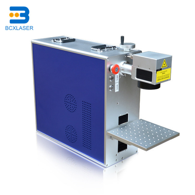 Raycus Laser Source 20W/30W Fiber Laser Marking Machine For Metal Plate,aluminum, Silver, Gold