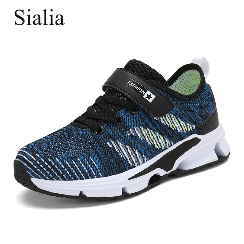 Sialia Sport Children Shoes For Kids Sneakers Boys Casual Shoes Girls Sneakers Breathable Mesh Striped sapato infantil 2019