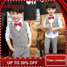 Kids clothes boys 2017 autumn new Korean dress suit small childrens fashion casual three-piece uniforms
