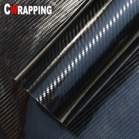 5D High Glossy Carbon Fiber Vinyl Film Car Styling Wrap Motorcycle Car Styling Interior Accessories With Air Release Stickers