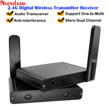 200M 2.4G Hifi Digital Music Sound Wireless Audio Transmitter Receiver Adapter 3.5mm RCA Audio Cable For PC Phone iPad Ipod DVD