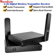 200M 2.4G Hifi dijital müzik ses kablosuz kablosuz AV alıcısı vericisi alıcı adaptörü 3.5mm RCA ses kablosu için PC telefon kılıfı iPad Ipod DVD