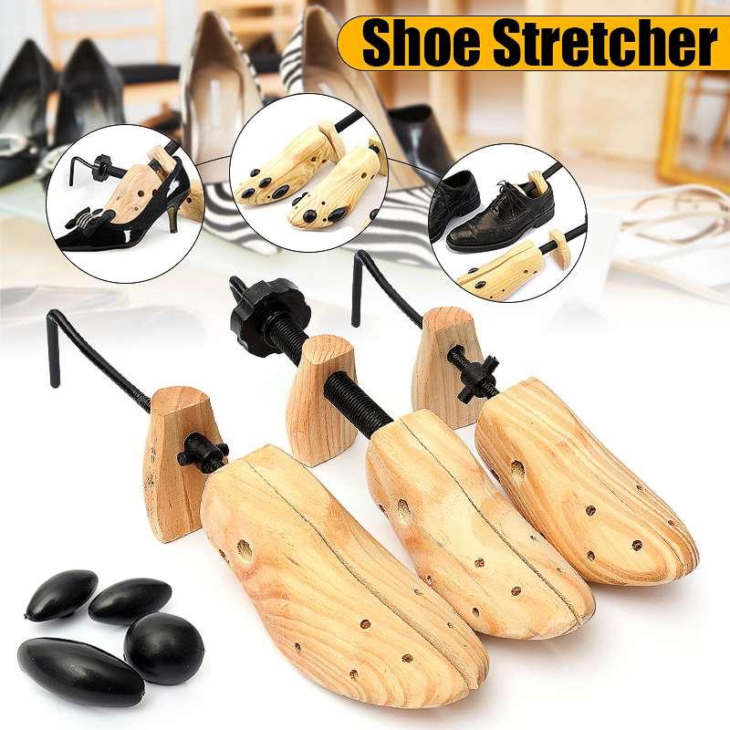 Bsaid unissex 1 pces sapato maca de madeira sapatos árvore shaper rack, madeira ajustável planos bombas botas expansor árvores tamanho s/m/l