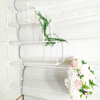 Напольные вазы цветы ваза Колонка стенд металлический столб дорога привести Свадебные центральные стойки событие вечерние партии Рождест...