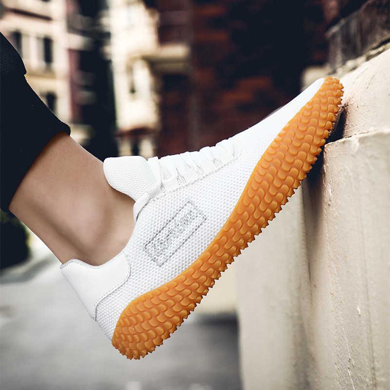 Мужские кроссовки; Модные мужские повседневные кроссовки из сетчатого материала; удобная прогулочная обувь на плоской подошве; Мужская дышащая обувь; zapatillas hombre