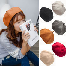 4e2f40fb1dbdd Women s Girl Suede Warm Winter Baggy Classic French Fluffy Beanie Beret Hat  Winter Outdoor Lady Girl