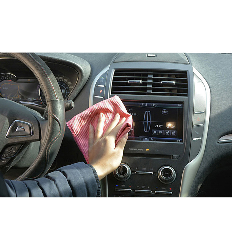 Image 3 - 30*40cm/11.8*15.7inch Microfiber Cleaning Towel Absorbable Glass Kitchen Cleaning Cloth Wipes Table Window Car Dish Towel Rag-in Sponges, Cloths & Brushes from Automobiles & Motorcycles