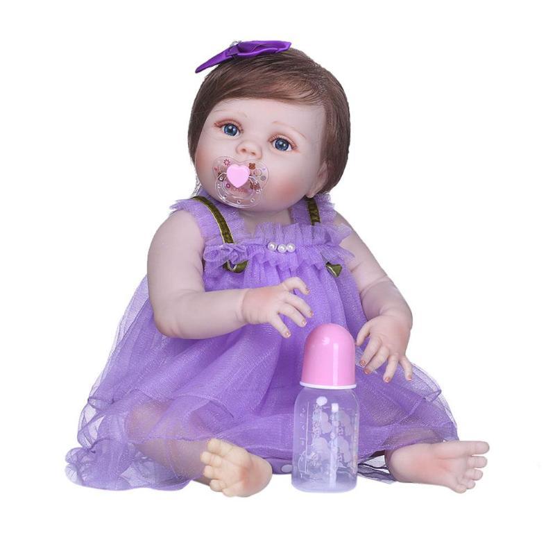 NPK 56cm Realistic Simulation Doll Lifelike Vinyl Silicone Reborn Baby DollNPK 56cm Realistic Simulation Doll Lifelike Vinyl Silicone Reborn Baby Doll