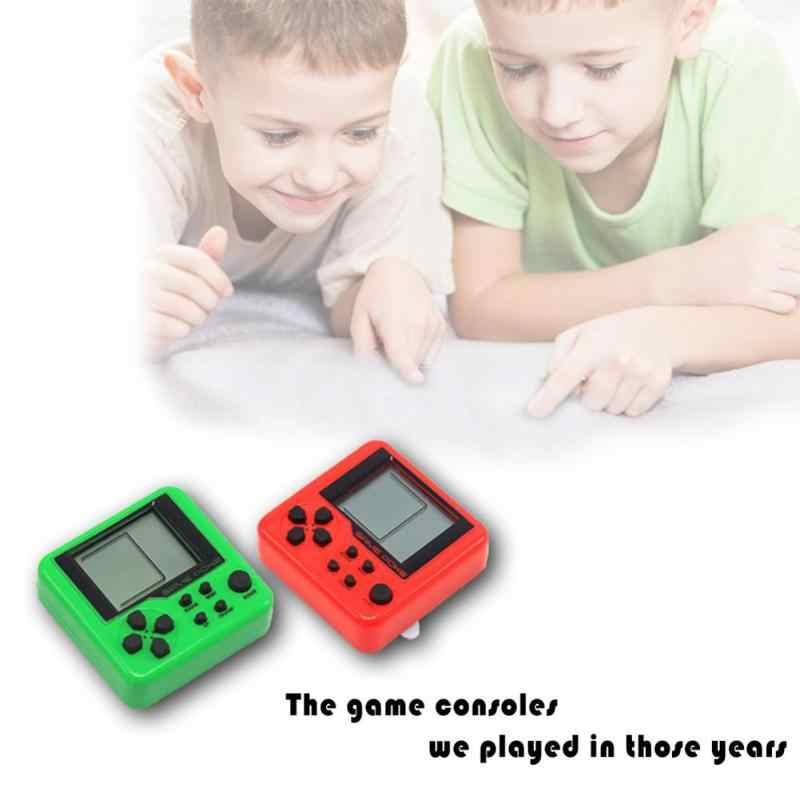26クラシックゲームテトリスポケットゲームコンソールポータブルミニ電子ペットゲーム機テトリスレンガゲームキーホルダーおもちゃ